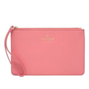 Kate Spade Pink White Street Eli Leather Wristlet